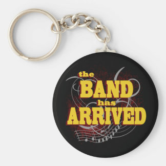 Band has Arrived/ Red Basic Round Button Keychain