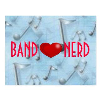 Band *heart* Nerd Post Card
