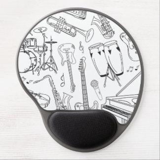 Band Instruments Doodles Gel Mouse Pad
