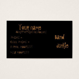Band  Junkie Business Card