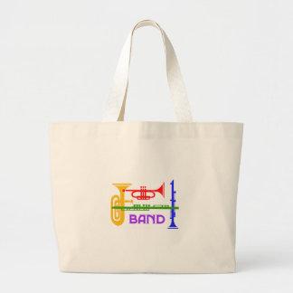 Band Large Tote Bag