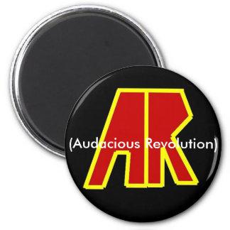 Band Logo, (Audacious Revolution) 2 Inch Round Magnet