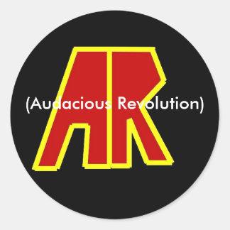 Band Logo, (Audacious Revolution) Classic Round Sticker