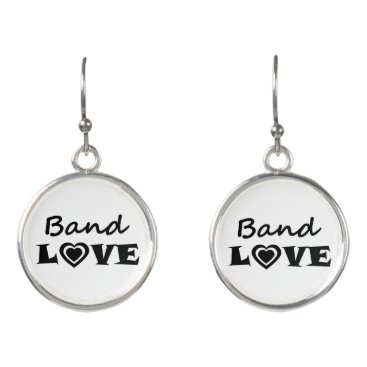 USA Themed Band Love Earrings