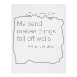 Band makes things fall off walls Bass Rules Personalized Letterhead