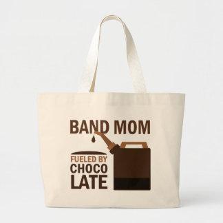 Band Mom (Funny) Chocolate Large Tote Bag