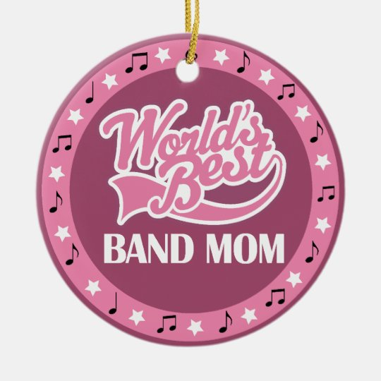 Band Mom Gift For Her Ceramic Ornament