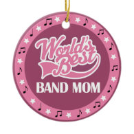 Band Mom Gift For Her Christmas Ornaments