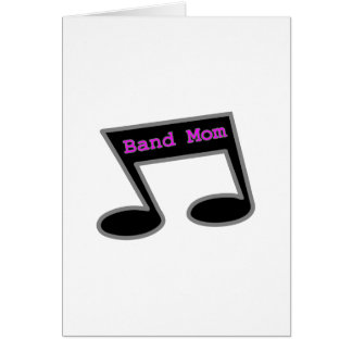 Band Mom Music Note Card