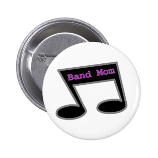 Band Mom Music Note Pinback Button
