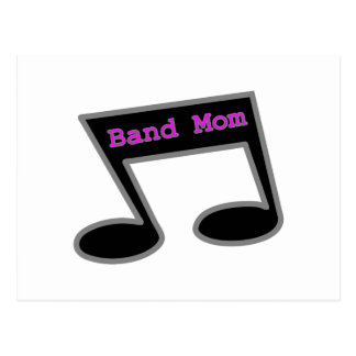 Band Mom Music Note Postcard