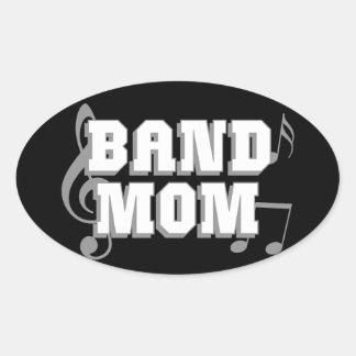 Band Mom Oval Sticker