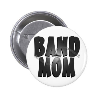 Band Mom Whimsical Pinback Buttons