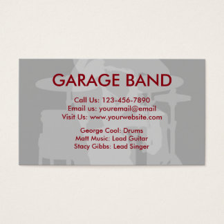 Band Music Business Cards