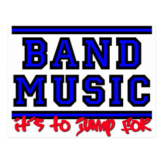Band Music: It's To Jump For Postcard