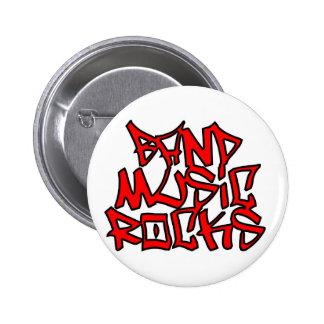 Band Music Rocks 2 Inch Round Button