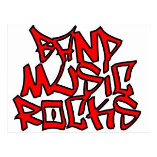 Band Music Rocks Postcard