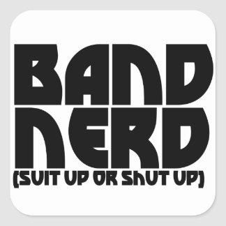 Band Nerd Square Sticker