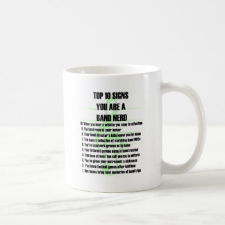 Band Nerd Top 10 Classic White Coffee Mug