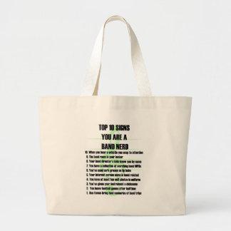 Band Nerd Top 10 Large Tote Bag
