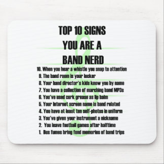 Band Nerd Top 10 Mouse Pad