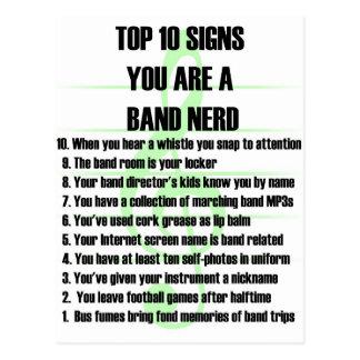 Band Nerd Top 10 Postcard