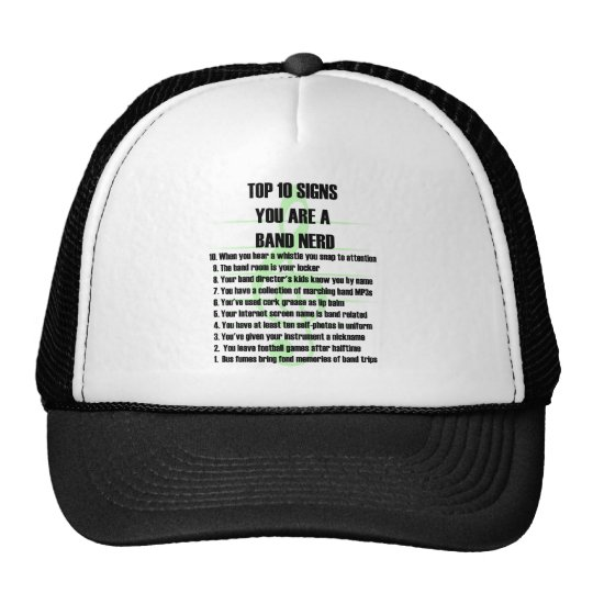 Band Nerd Top 10 Trucker Hat