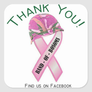 Band of Bosoms Thank You Sticker