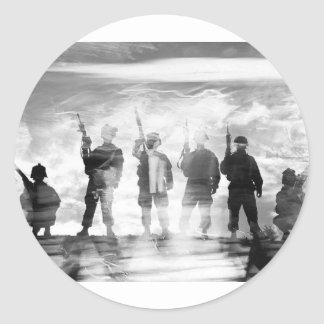 BAND OF BROTHERS CLASSIC ROUND STICKER