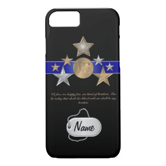 Band Of Brothers Military Monogram iPhone 7 Case