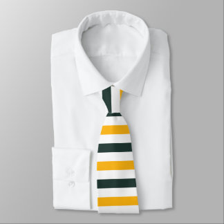 BAND OF COLORS - Gold, Green, and White Neck Tie