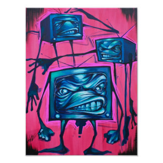 """""""BAND OF TVs"""" CANVAS Poster"""