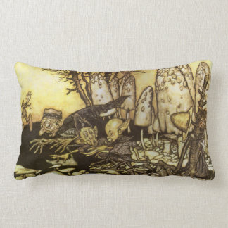 Band of Workmen by Rackham, Vintage Fairy Tale Throw Pillow
