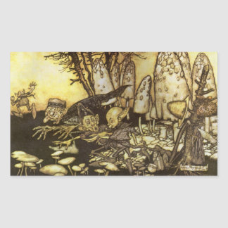 Band of Workmen by Rackham Vintage Fairy Tale Rectangle Stickers