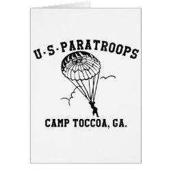 Band off Brothers Currahee US Paratrooper Toccoa Card