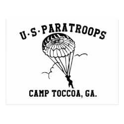 Band off Brothers Currahee US Paratrooper Toccoa Postcard