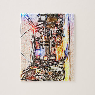 band on stage colored pencil music themed design puzzle