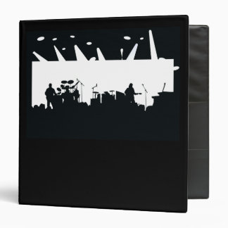 Band On Stage Concert Silhouette B&W Binder