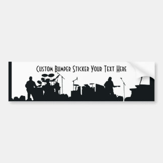 Band On Stage Concert Silhouette B&W Bumper Sticker