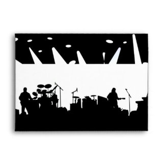 Band On Stage Concert Silhouette B&W Envelope