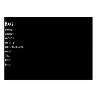 Band On Stage Concert Silhouette B&W Large Business Card