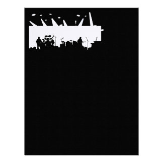 Band On Stage Concert Silhouette B&W Letterhead