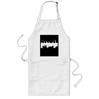Band On Stage Concert Silhouette B&W Long Apron