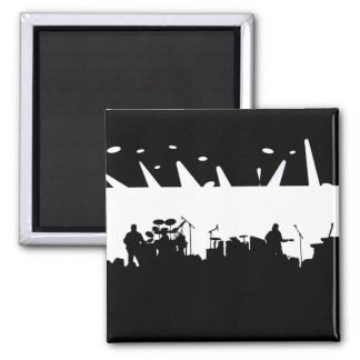 Band On Stage Concert Silhouette B&W Magnet