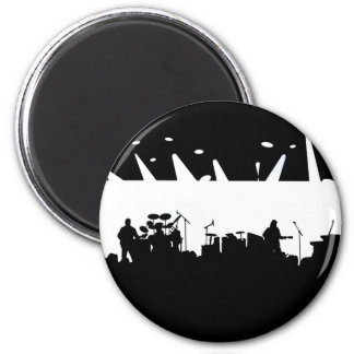 Band On Stage Concert Silhouette B&W Refrigerator Magnets