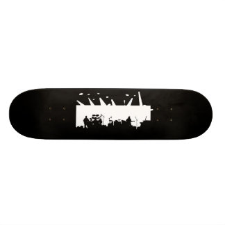 Band On Stage Concert Silhouette B&W Skate Board Decks