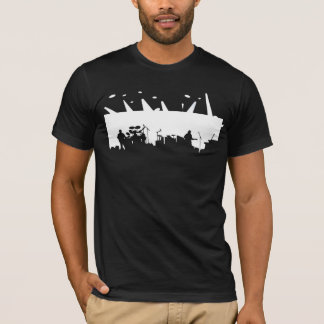Band On Stage Concert Silhouette B&W T-Shirt