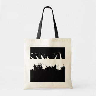 Band On Stage Concert Silhouette B&W Tote Bag