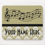 Band or Choir Personalized Music Damask Mousepads
