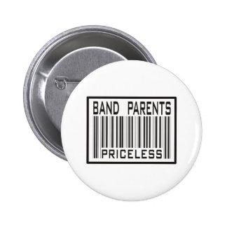 Band Parent Priceless Pinback Buttons
